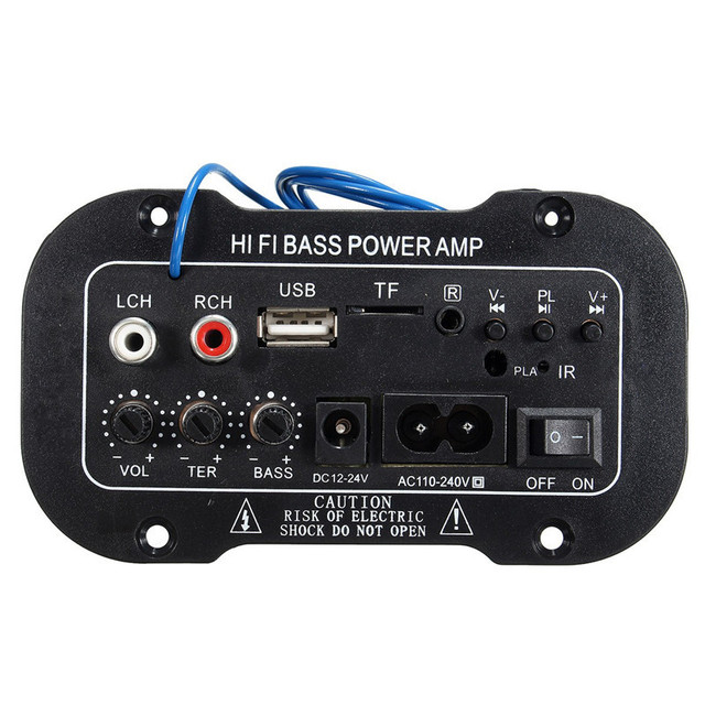 New 30W Amplifier Board Audio bluetooth Amplificador USB dac FM radio TF Player Subwoofer DIY Amplifiers For MotorcycleCarHome