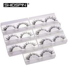 7 Pairs False Eyelashes Set Handmade Eyelashes Fake Lashes Makeup Beauty Eyelash Extension Long Eyelashes