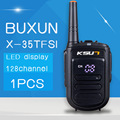 Buxun x-35tfsi 8 w handheld baofeng walkie talkie uhf 400-470 mhz 128 canais led display rádio em dois sentidos cb portátil