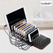 Go2linK 15 Port Station 100 Watt 20A Mehrere Desktop Ladegerät Hub Schnelle USB Ladestation