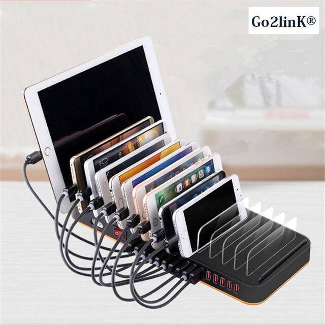 Go2link 15 Port Station 100w 20a Multiple Desktop Charger Hub Fast Usb Charging Dock