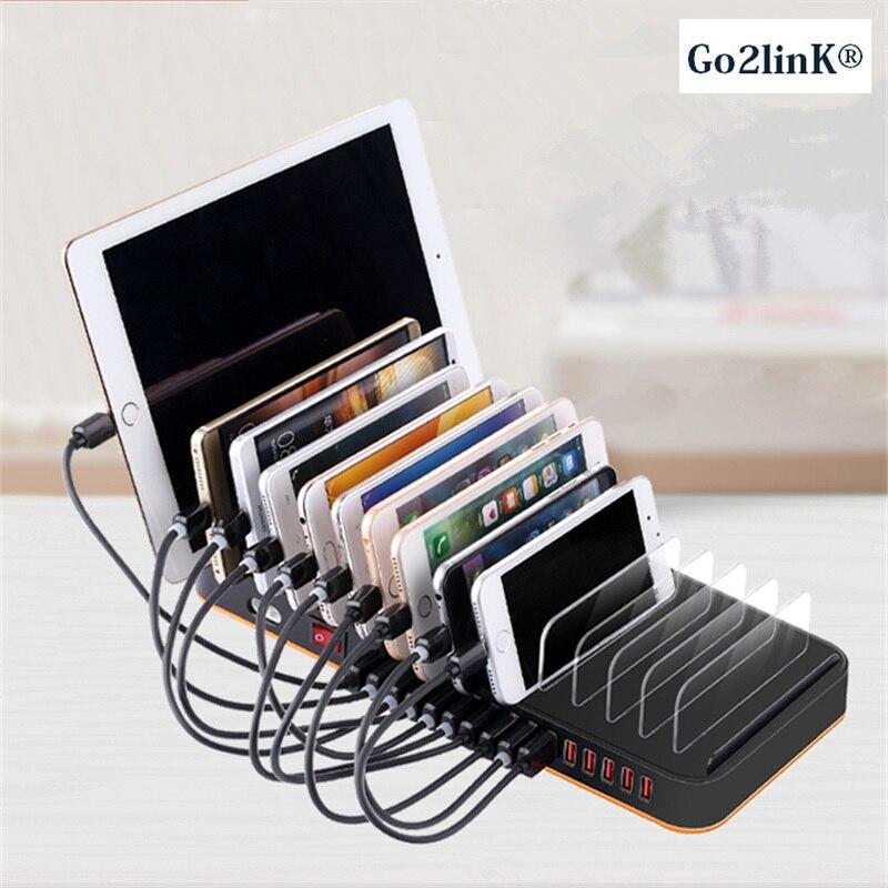 Station Go2linK 15 ports 100 W 20A moyeu de chargeur de bureau Multiple Dock de chargement USB rapide