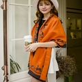 Moda de luxo da marca mulheres cachecol de lã Cashmere inverno Cachecóis longos Double-Sided Enfrentou Macio Engrossar Quente capa Xale poncho