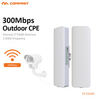 COMFAST 2.4G wi fi Access Point Wifi Bridge 1 3KM Extender CPE Router 300Mbps Outdoor CPE 48V POE WIFI Router CF E314N
