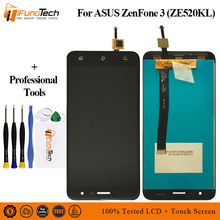 New 5.2'' LCD For Asus ZenFone 3 ZE520KL Z017D Z017DA LCD Display Panel Touch Screen Digitizer Glass Sensor Assembly With Frame