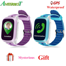 Купить с кэшбэком AMTERBEST DS18 Smart Watch Kids Children baby GPS WiFi Locator Tracker SOS Call SMS Waterproof Support SIM Card PK Q50 Q90 Q10