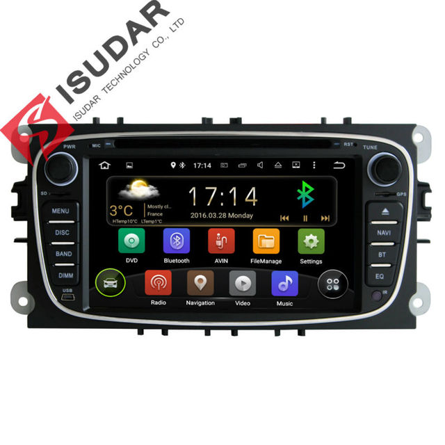 Два Дин 7 Дюймов Dvd-плеер Автомобиля Android 5.1.1 Для FORD/Focus/S-MAX/Mondeo/C-MAX/Galaxy Quad Core Wifi GPS Навигации Радио FM USB