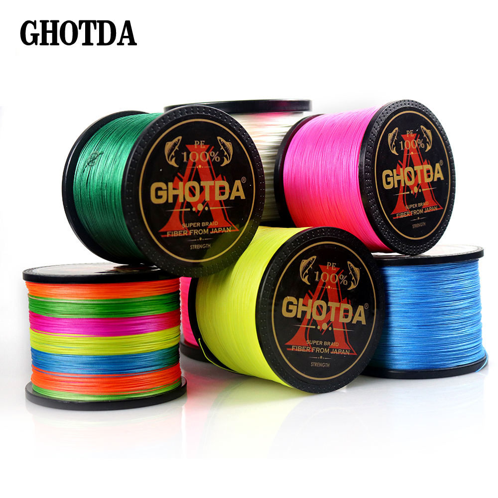 1000M Brand Japan Multifilament 100% PE Braided Fishing Line 22LB to 78LB Free Shipping|Fishing Lines| |  - title=