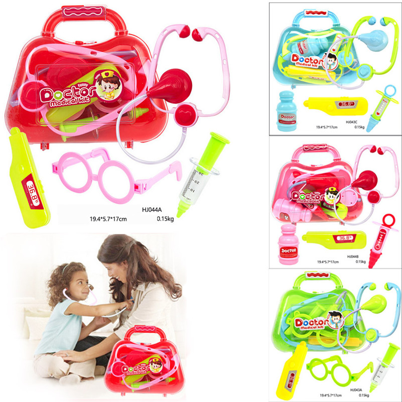1 SET Kids Baby Doctor Medical Play Carry Set Case Education Role Play Toy Kit Gift toys for children ABOUT hospital doctor A1 image