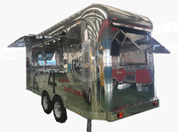 New design 304 stainless steel outdoor mobile food cart for hotdog food truck trailer