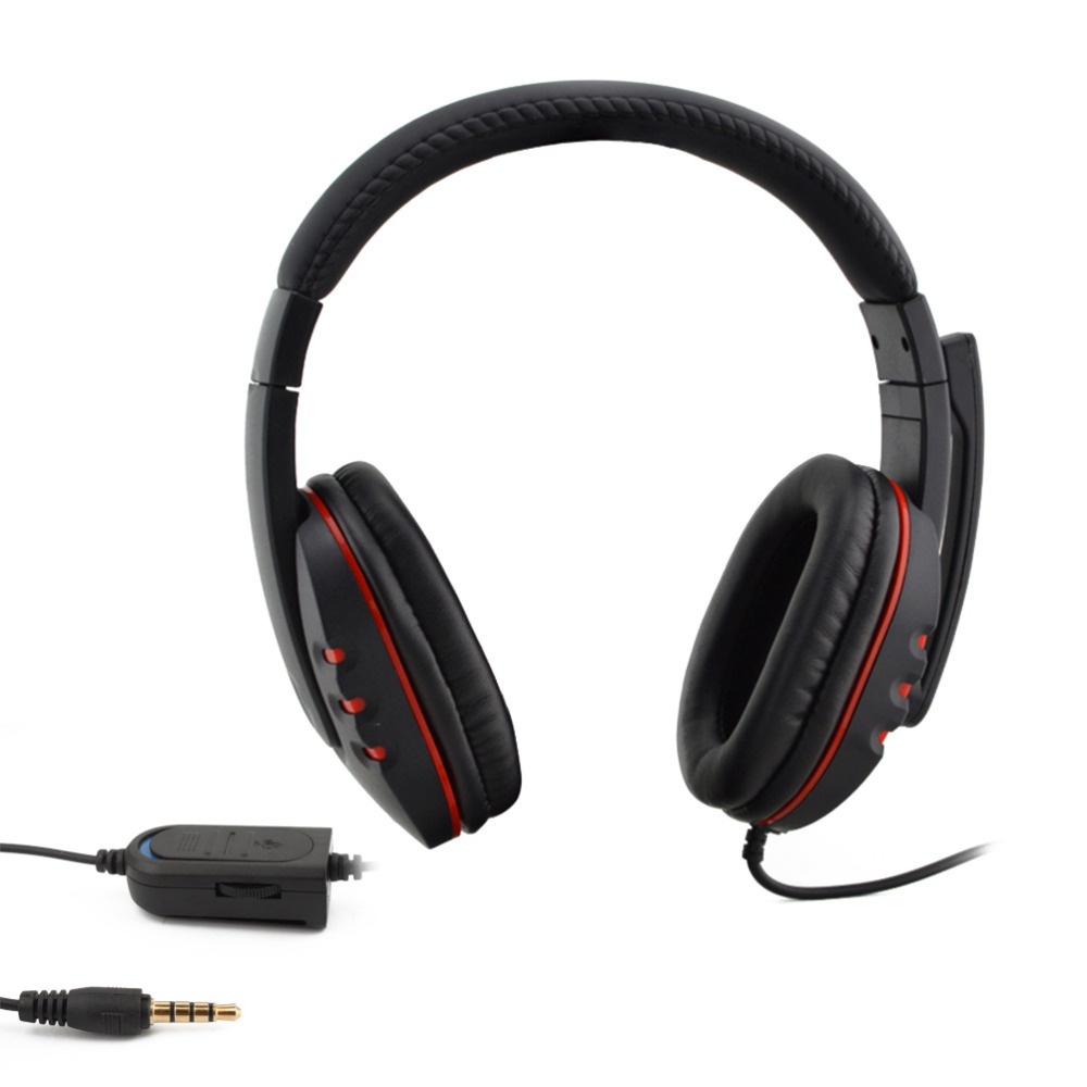Game Headphone Wired Stereo Headset Earphone With Mic Micphone Player For Playstation 4 Ps4 Ps3