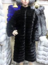 real  Mink fur coat 100 cm long sleeve