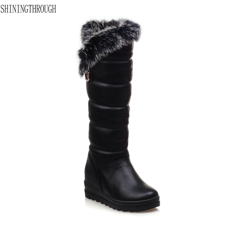 New fashion women boots knee high boots flat platform boots woman winter snow boots black white red shoes woman big size 34-43 asumer 3 colors new big size 34 43 women boots winter fashion lace up knee high boots sexy woman shoes snow motorcycle boots
