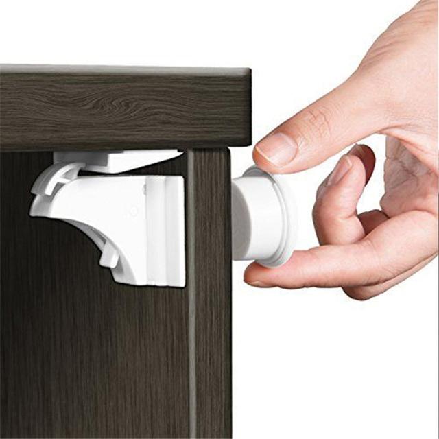 Magnetic Locks Baby Safety Cabinet Door Lock Children Protection Kids Drawer Locker Security Cupboard Childproof