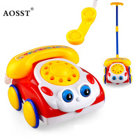 Child Toy Creative Educational Learning Telephone Children Toys Multifunction Music Phone Handcart Baby Gift