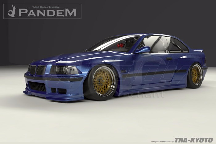 1992-1999 BMW E36 M3 Coupe GReddy Pandem Style Body Kit FRP (6)