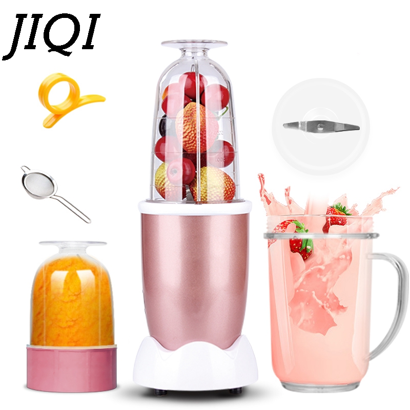 JIQI Electric MINI Fruit Juice Extractor Orange Squeezer Juicer Baby Food Processor Whisk Mixer Blender Kitchen Meat Grinders EU