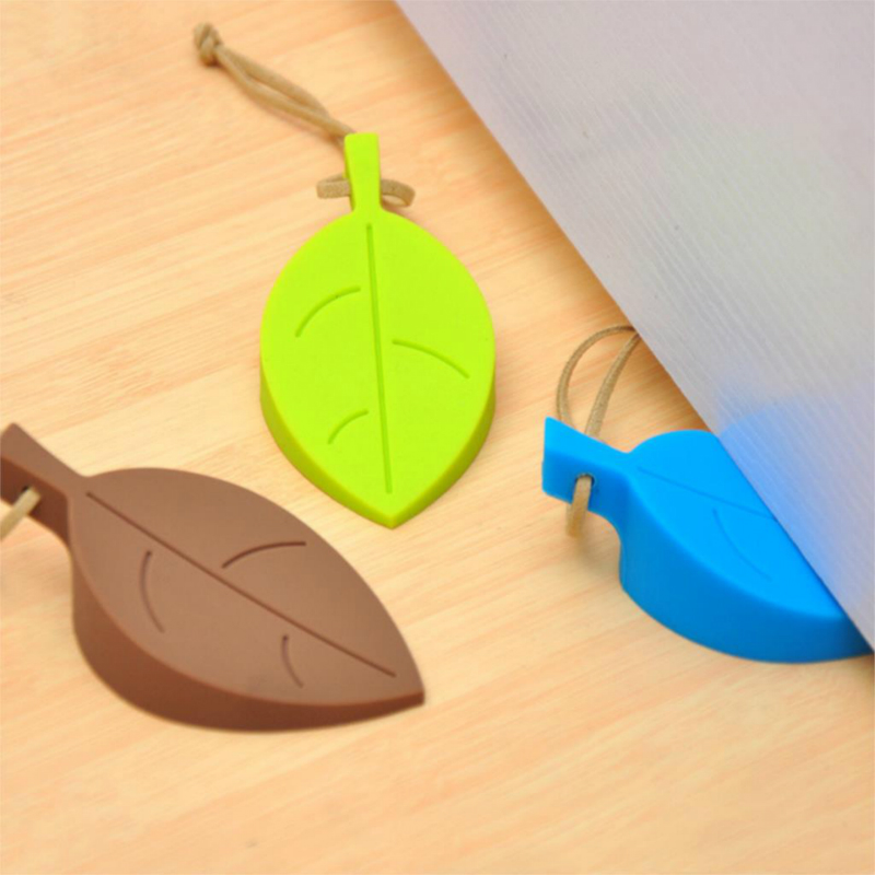 1pc Silicone Door Stopper Kids Baby Safety Door Stop Leaf Shape Anti-pinch Finger Protection Kids Door Guards Safe Protector