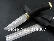 Damascus steel Straight Knife for Hunting for Hunter jakt kniv