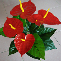 Artificial flower artificial accessories anthurium home flower silk flower artificial flower small bonsai plastic floor small