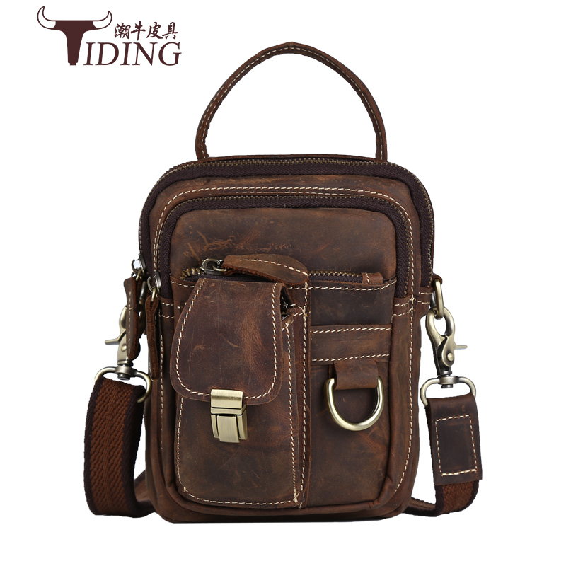 Vintage Crazy Horse Genuine Leather Men Bags Men Messenger Bag Man Shoulder Crossbody Bags Leather Handbag Male Small Bag ms crazy horse genuine leather men bag men s leather bag men messenger bags shoulder crossbody bags man handbag briefcase tw2011