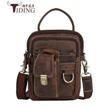 купить Vintage Crazy Horse Genuine Leather Men Bags Men Messenger Bag Man Shoulder Crossbody Bags Leather Handbag Male Small Bag по цене 4927.18 рублей