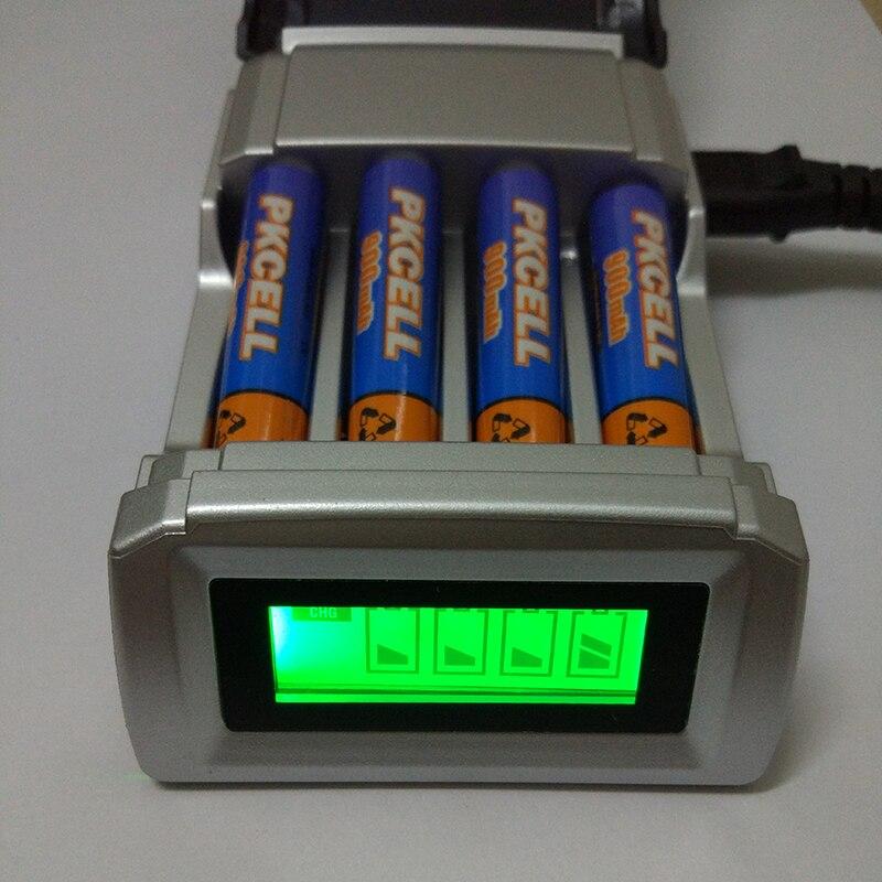 8175 Carregador de Bateria com 4 Slots de Bateria Inteligente inteligente UE carregador Para AA/AAA NiMh NiCd Baterias Recarregáveis LCD exibição