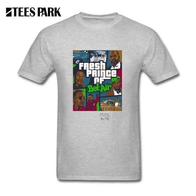 0c60866123d Cartoon T-Shirt Men's GTA Fresh Prince of Bel Air T Shirt Crewneck T Shirt  Organnic Cotton Short Sleeved Men Tee Shirts