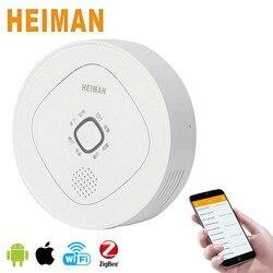 HEIMAN Home inteligentny wykrywacz gazów palnych  Mini detektor alarmu gazu ziemnego ZigBee dla inteligentnego bezpieczeństwo w domu System-HS3CG