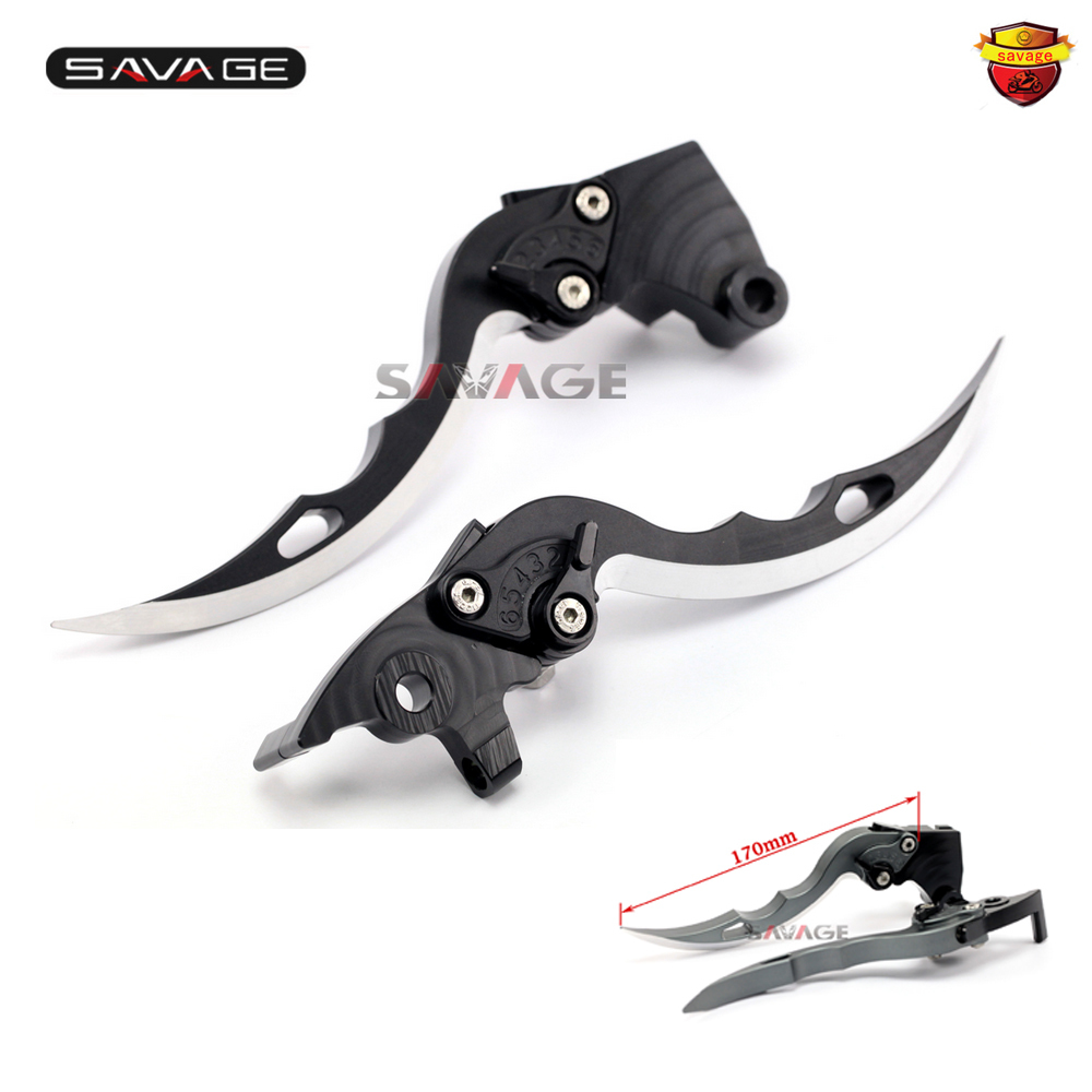For YAMAHA XJR 1300 XJR1300 2004-2016 Knife Blade CNC Long Brake & Clutch Levers Motorcycle Accessories cnc billet adjustable long folding brake clutch levers for yamaha xtz 1200 10 14 xjr 1300 fjr 1300 04 14 05 07 supertenere 12 14