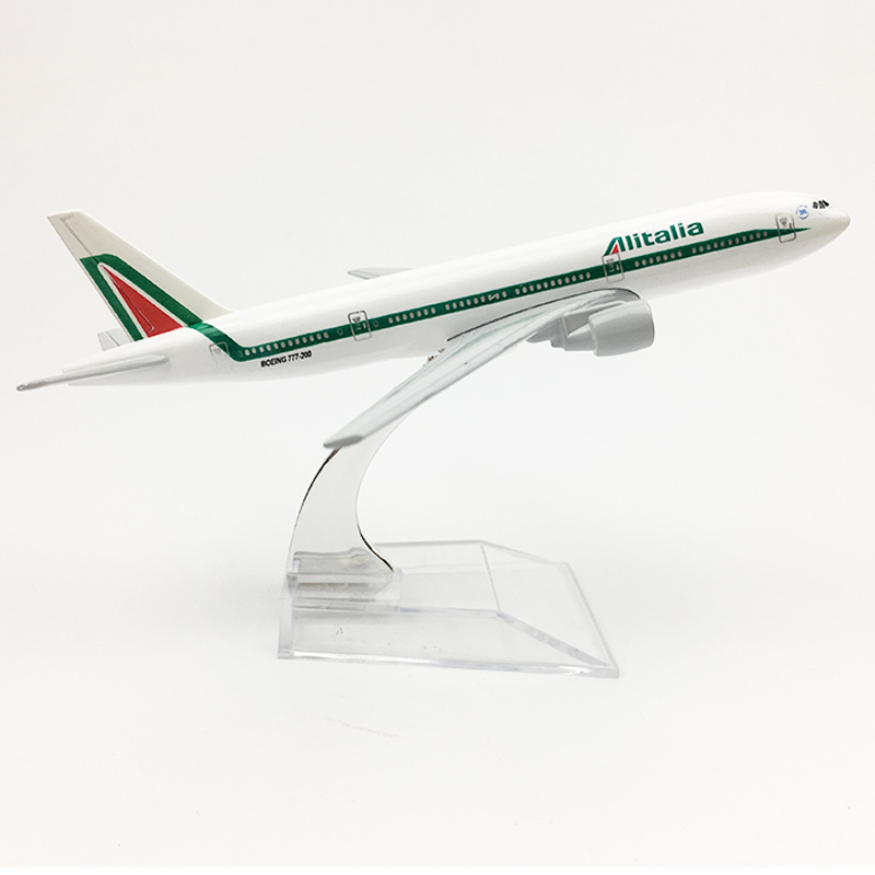 Free Shipping Alitalia Aeroplane Model Boeing 777 Airplane 16CM Metal Alloy Diecast 1:400 Airplane Model Toy For Children