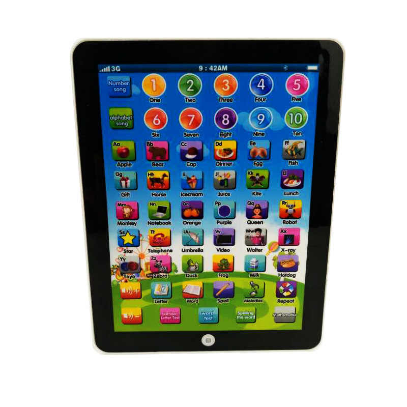 Tablet giocattolo Inglese Lingua Russa Machine Learning Educational Toy Alfabeto Russo Baby Touch Tablet Macchine di Apprendimento Giocattolo
