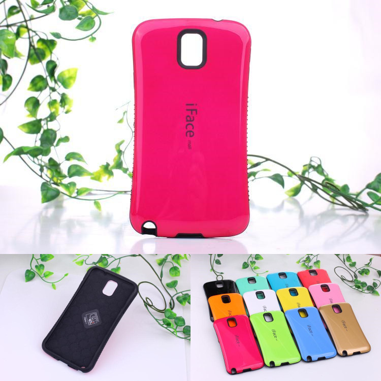 iFace capa fundas Candy Color case For Samsung galaxy note 3 note3 neo lite N7505 Hard