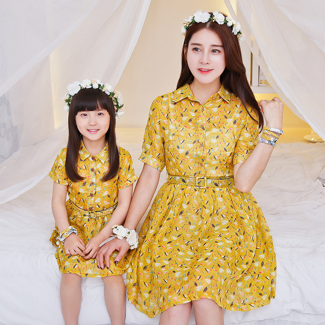 Family Matching Outfits Mother and Daughter Matching Dresses Family Clothing Mom and Daughter Matching Clothes Family Dress DR55