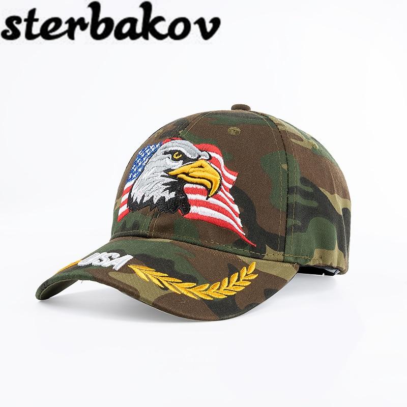 2017 Maskovací taktická čepice Army Taktická baseballová čepice Unisex ACU CP Desert Cobra Camo Maskovací čepice Snapback hat