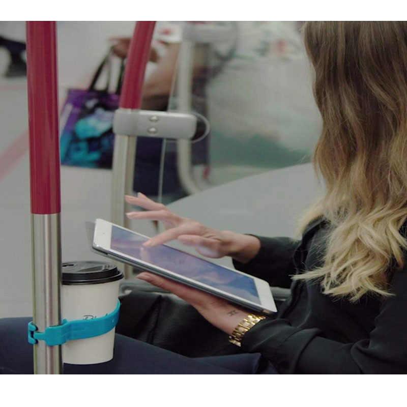 Support de verre portatif de boisson de voyage en plastique de voyage support de verre de transport en commun pour des Trains autobus vélos bleu/rose/blanc