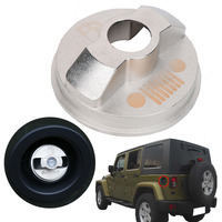 Silver Metal Fuel Tank Cap For Jeep Wrangler JK Unlimited X Sport Freedom Sahara Car Inner