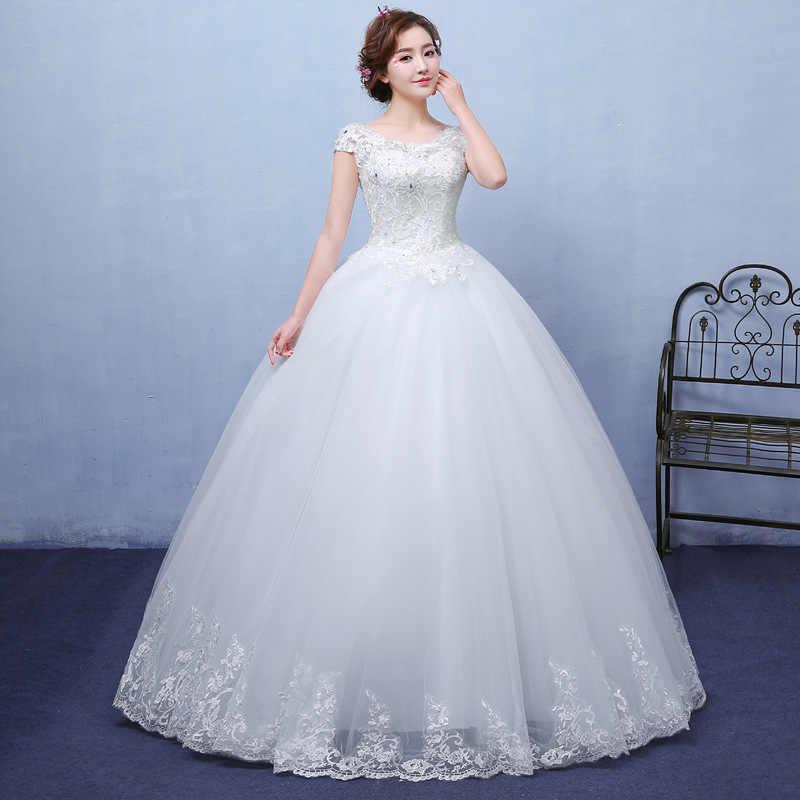 2020 New Vintage Abiti Da Sposa Mrs Win Manica Corta Abito di Sfera Principessa Abiti Da Sposa Vestido De Noiva Robe De Mariee F
