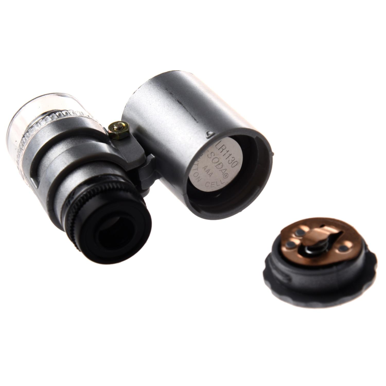 JFBL Pocket Mini 60x LED Pocket Microscope Jeweler Magnifier Adjustable Loupe
