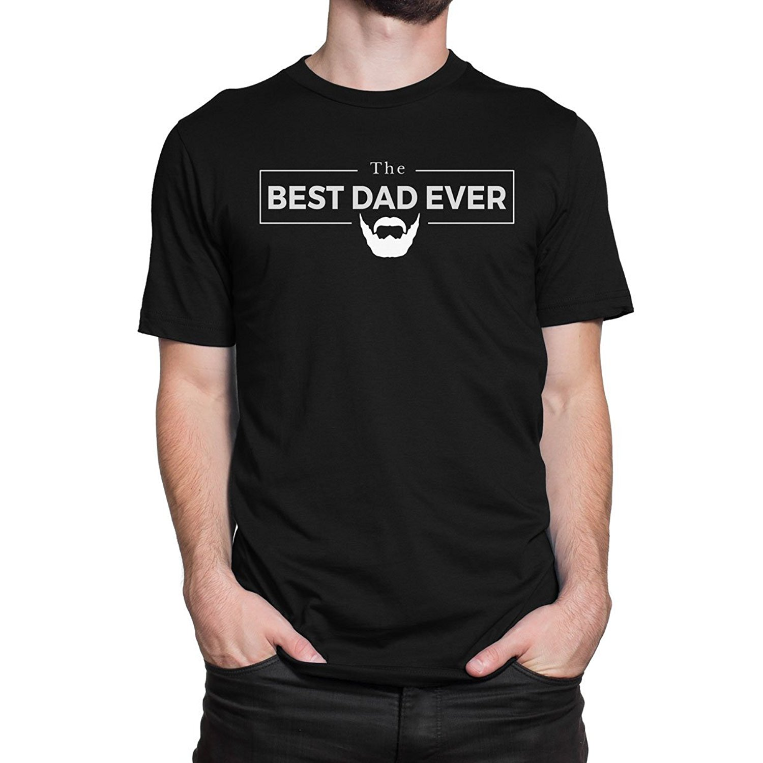 BEST DAD EVER BEARD EDITION MenS PRINT HAUS T-shirt Short Sleeves Cotton Fashion T Shirt Free Shipping
