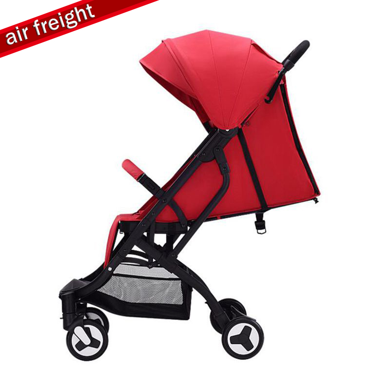 Baby stroller ultra light folding child shock absorber trolley can sit lie baby BB car can be on the planeBaby stroller ultra light folding child shock absorber trolley can sit lie baby BB car can be on the plane