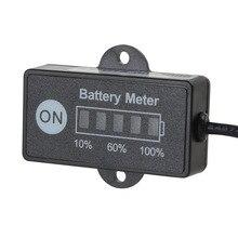 Nero LED Indicatore di Batteria Misuratore di Livello Automobile Gauge 12 V 24 V Per Strumento di Diagnostica Auto