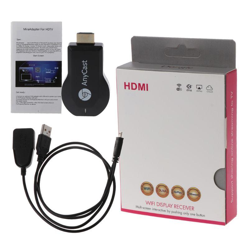 Новейший адаптер Anycast Chromecast 2 для совместного подключения к телевизору, мини-адаптер для Android Chrome Cast HDMI WiFi Dongle 1080P