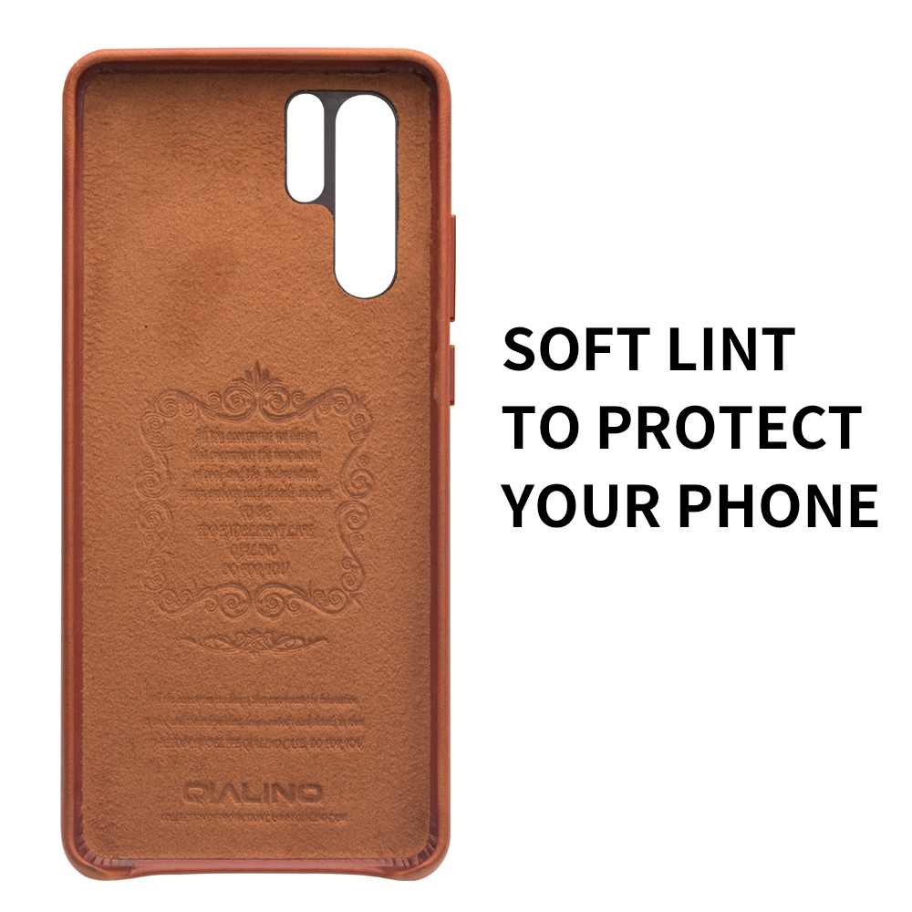 Image 5 - QIALINO Fashion Genuine Leather Ultra Slim Phone Case for Huawei P30 Pro 6.47 inch Luxury Handmade Back Cover for Huawei P30-in Half-wrapped Cases from Cellphones & Telecommunications