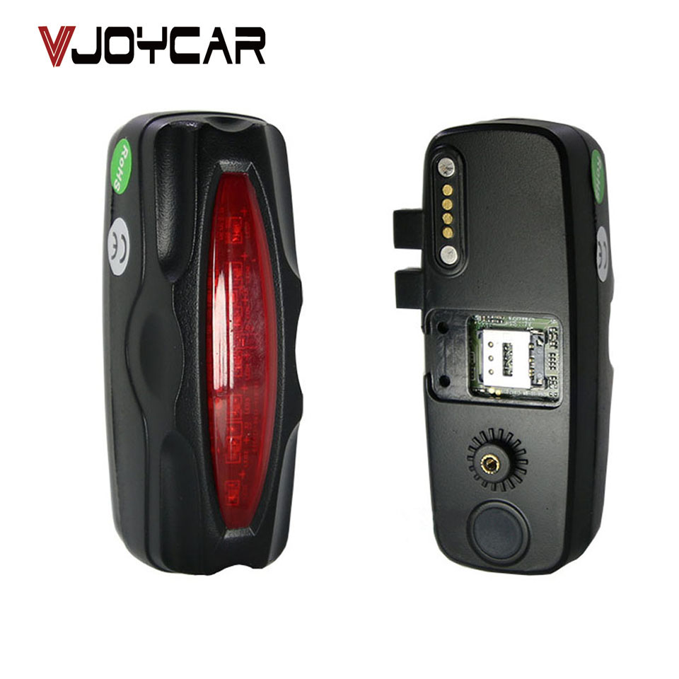 Bike GPS Tracker Chipset Mini Hidden Inside Rear LED Light Waterproof Rastreador Motion Sensor Long Battery