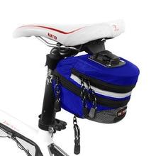 Cycling Mountain Bike Seat bag Bicycle Rear Bag Nylon Chain striped waterproof fabric Bike Saddle