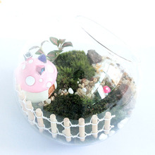 1pc 9*3cm Miniature Small Wood Fencing DIY Fairy Garden Micro Dollhouse Gates Decor Ornament White Color And Coffee Colors