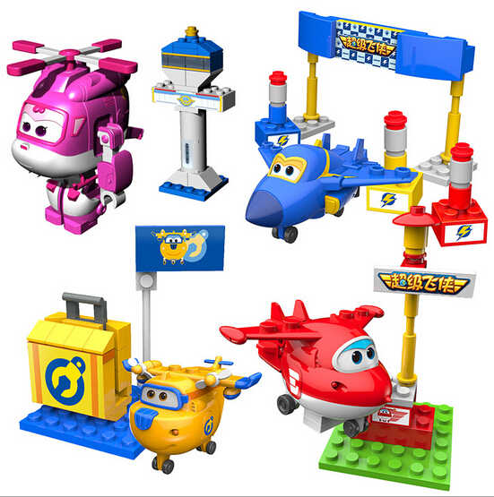 NEW hot Superwings Super Asas deformação robot Building blocks enigma coletores brinquedos action figure boneca de presente de Natal