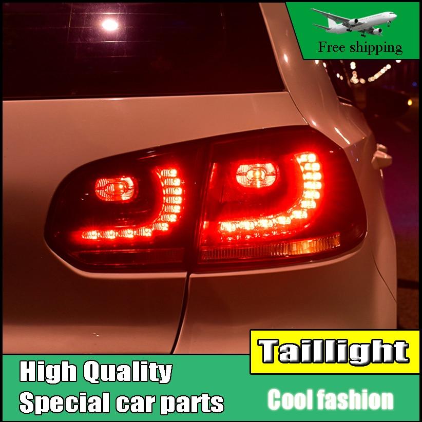 Автомобиль стайлинг для Фольксвагена Гольф 6 Р20 2009-2013 задние фонари LED задние фонари светодиодные задние лампы ДРЛ+Тормозная+заднего+световой сигнал