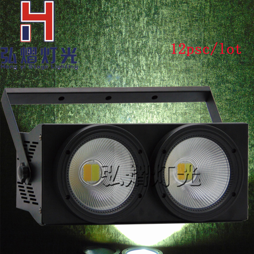 10pcs/lot Professional Stage Lighting 2in1 white+Warm white LED Par Can 2X100w DMX Wash 100w COB LED litewinsune cw ww 100w cob led par can lighting 3200k 5600k wash stage lighting 6pcs